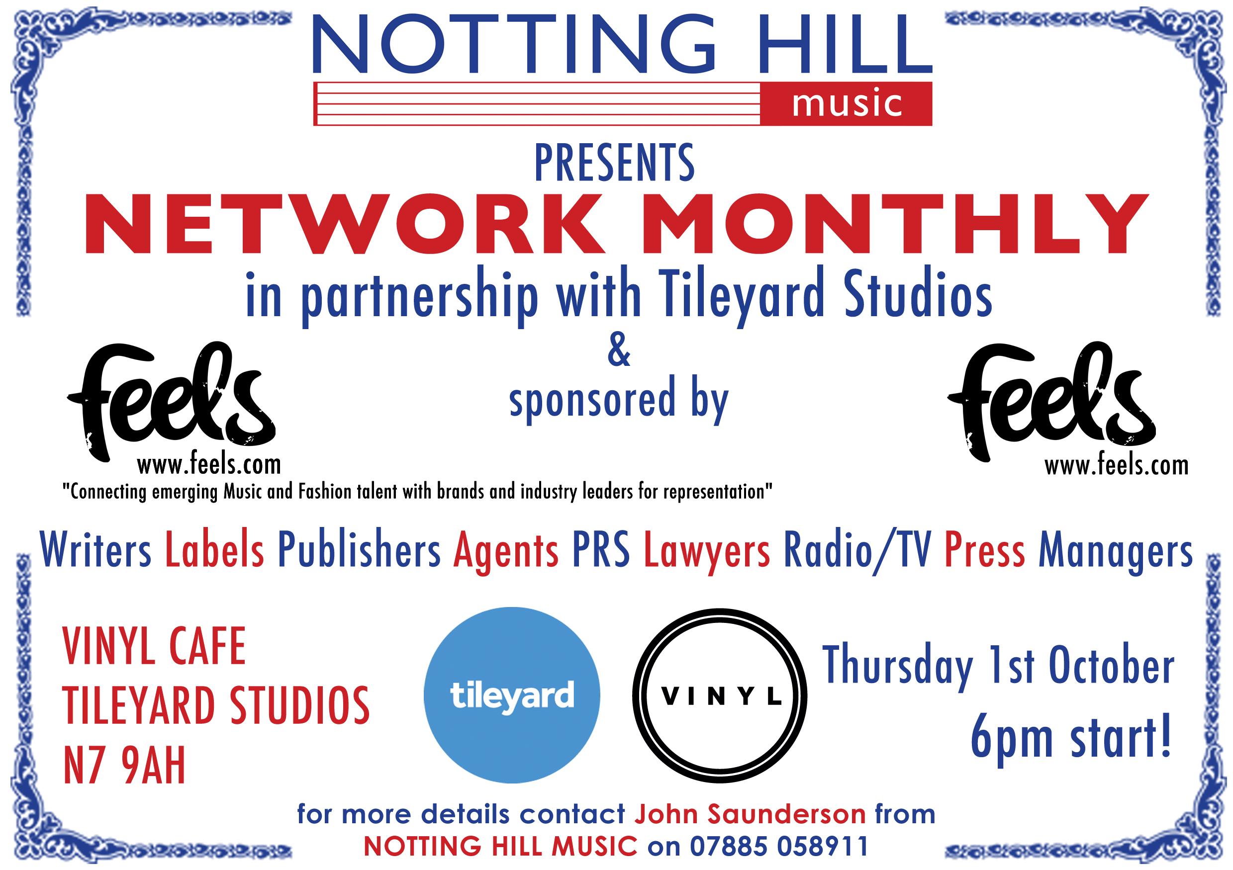 NHM / Tileyard Studios Network Monthly