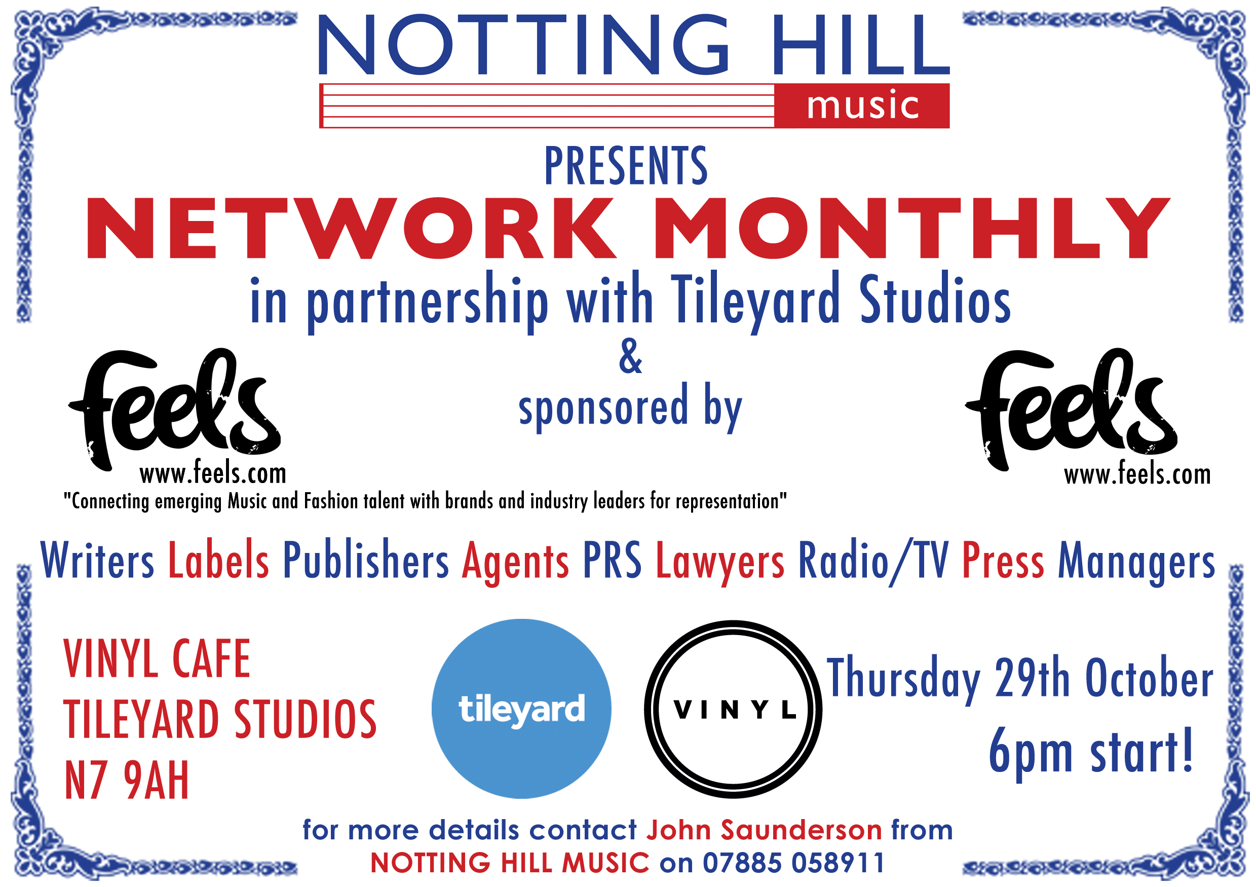 Notting Hill Music / Tileyard Studios Network Monthly