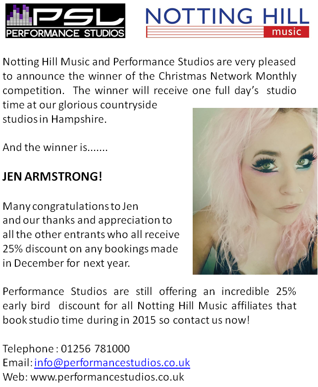 Performance Studios' competition winner!