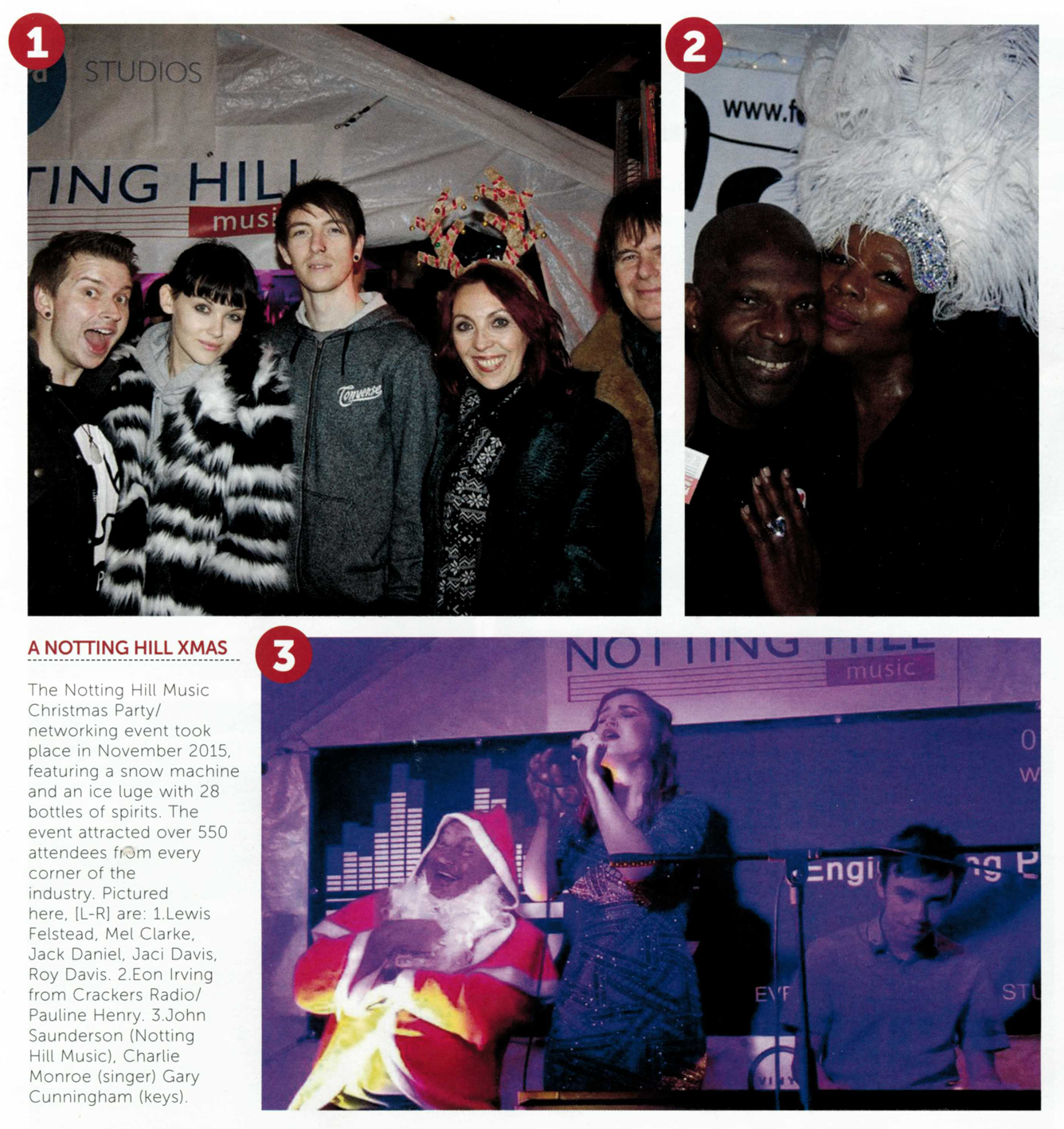 Music Week features our Christmas party!