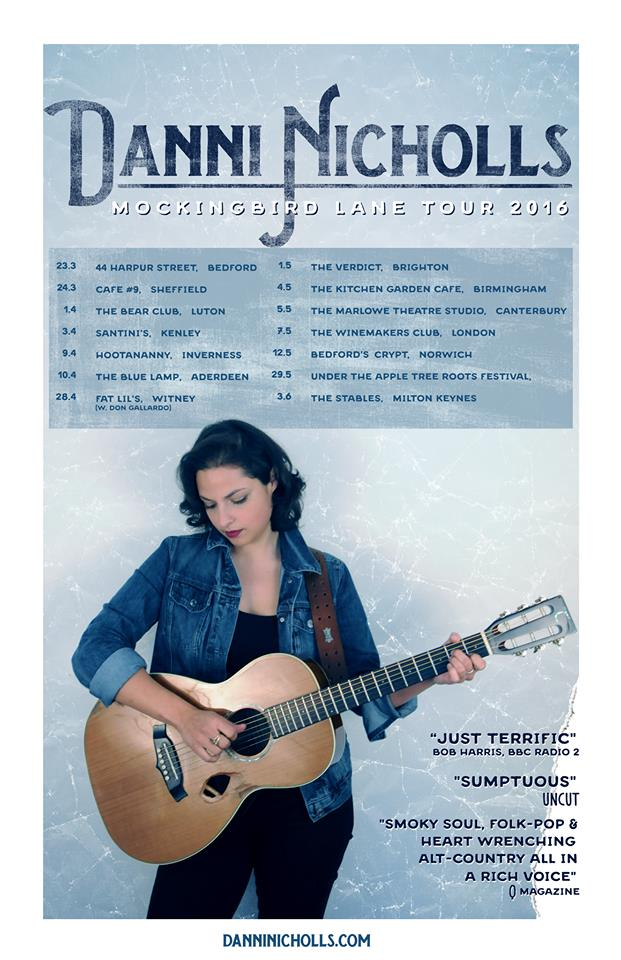 Danni Nicholls announces Mockingbird Lane Tour 2016