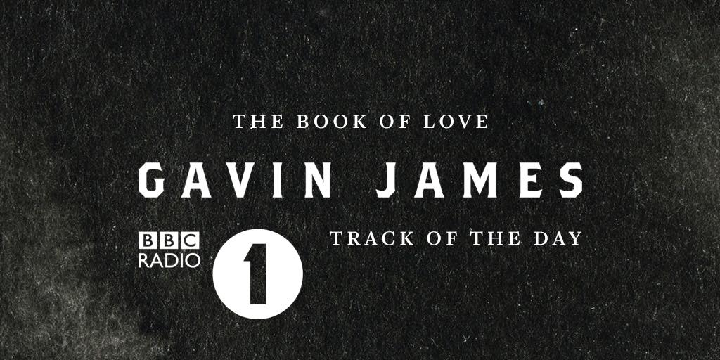 Gavin James' cover of 'The Book of Love' is Radio 1's 'Track of the Day'