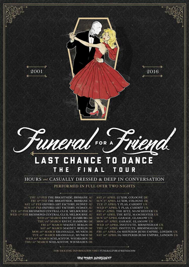 Funeral For A Friend 'Last Chance To Dance' tour