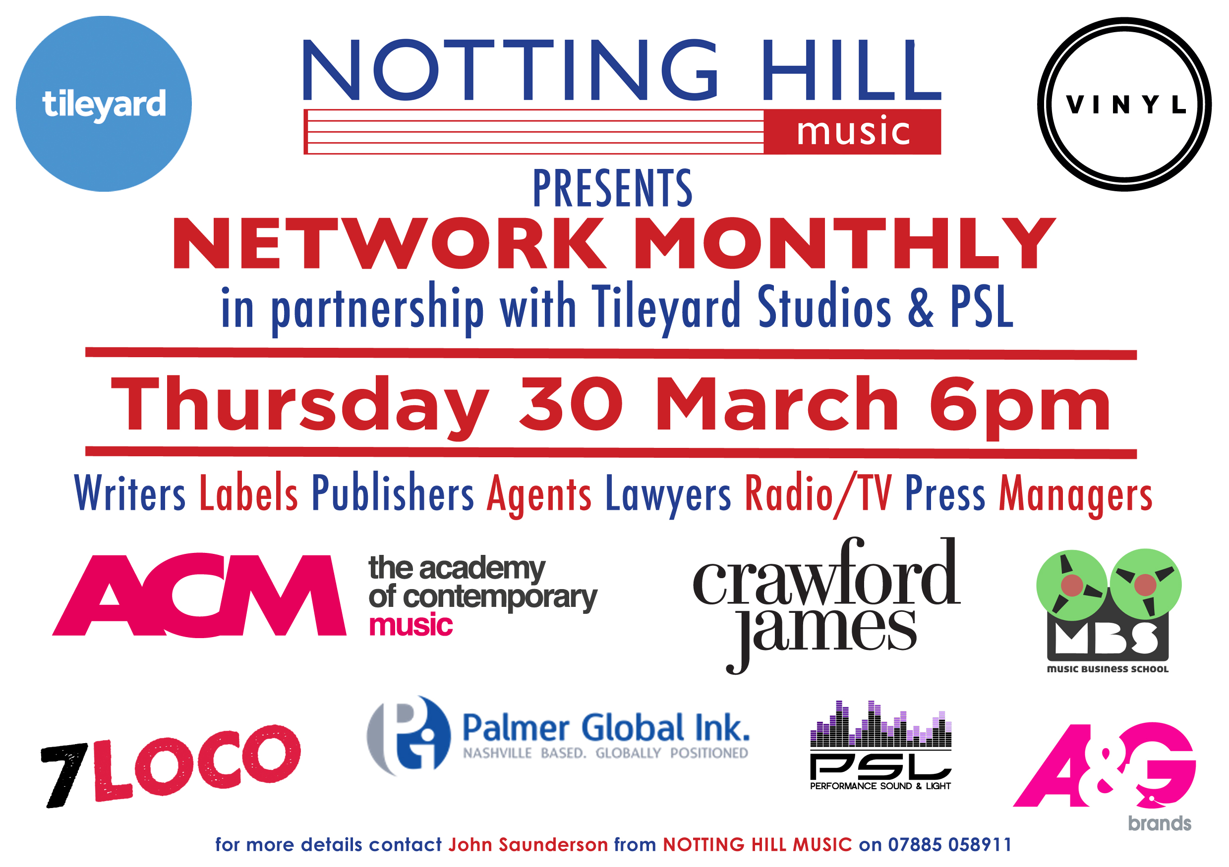 Next Networking event on Thursday 30 March
