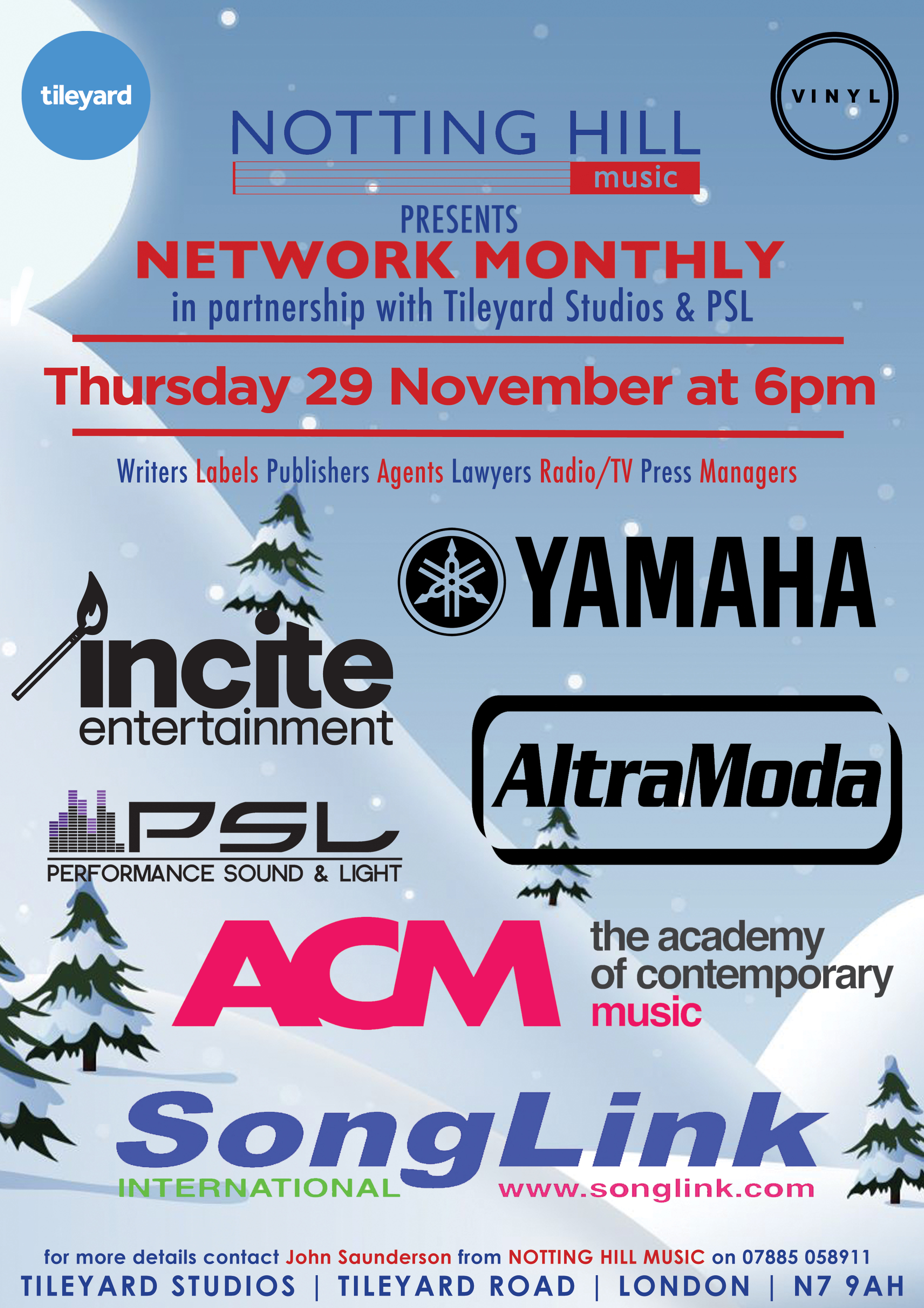 Seasonal Networking Event – 29 November at Tileyard Studios