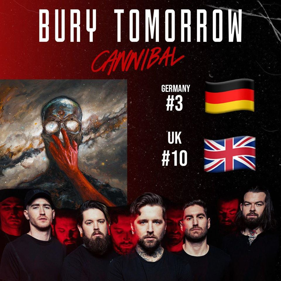 Bury Tomorrow's 'Cannibal' Reaches Top Ten In Album Charts